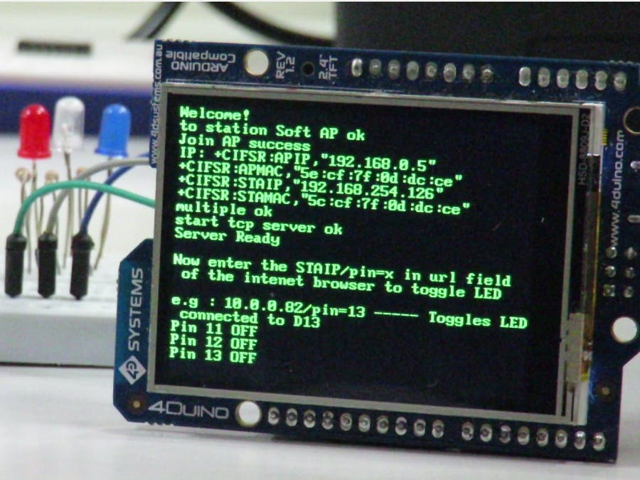 GPIO Control from Web Browser using 4Duino-24