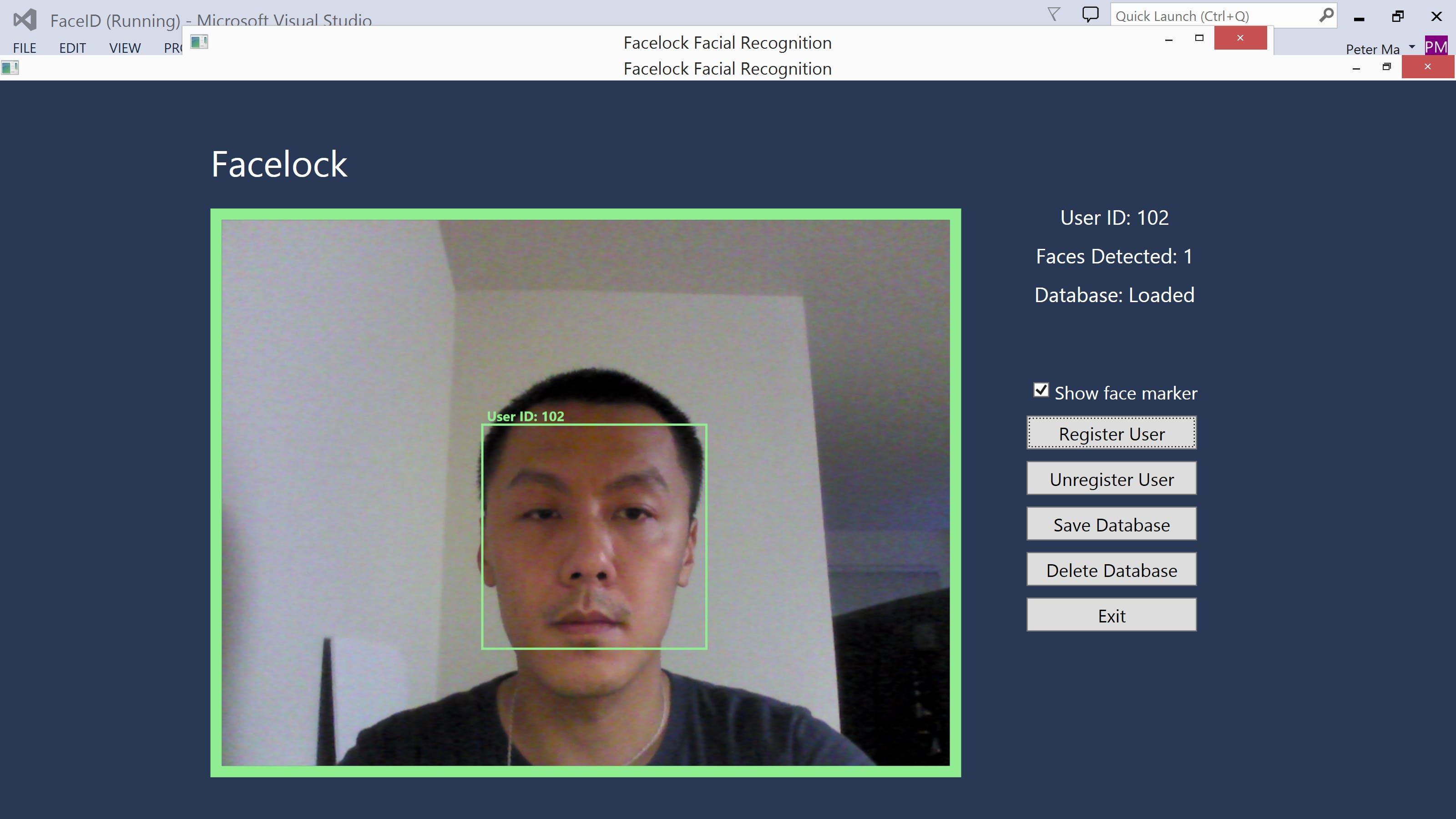 RealSense Facial Recognition
