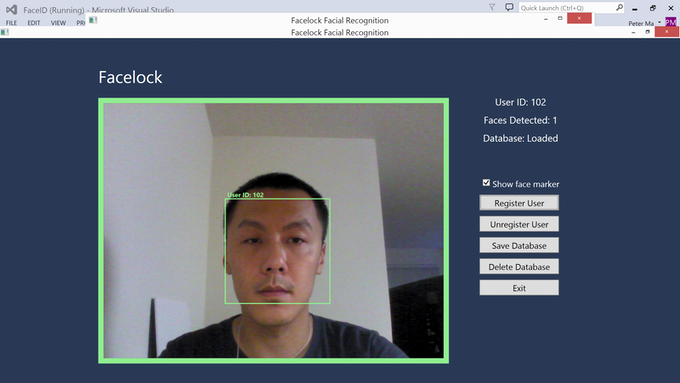RealSense Facial Recognition