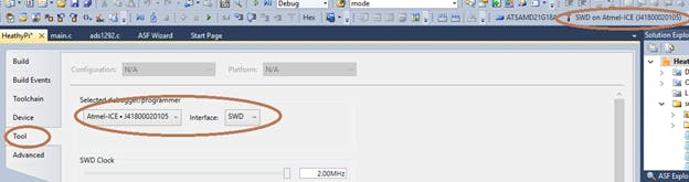 Setting the interface for debugger