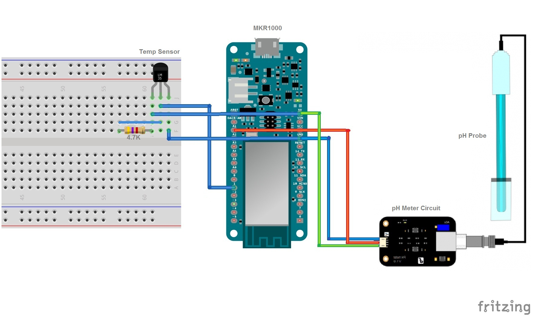 Water Quality Monitoring Using MKR1000 and ARTIK Cloud - Hackster.io