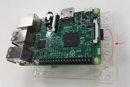 Raspberry Pi 3 placement