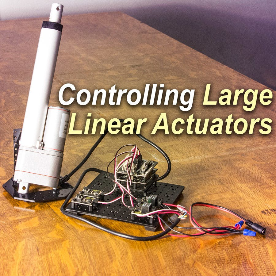 Control A Large Linear Actuator With Arduino Wiring