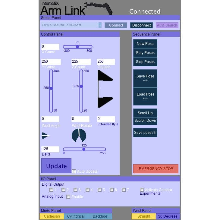 Controlling Arduino Robot Arm With Arm Link Software - Arduino