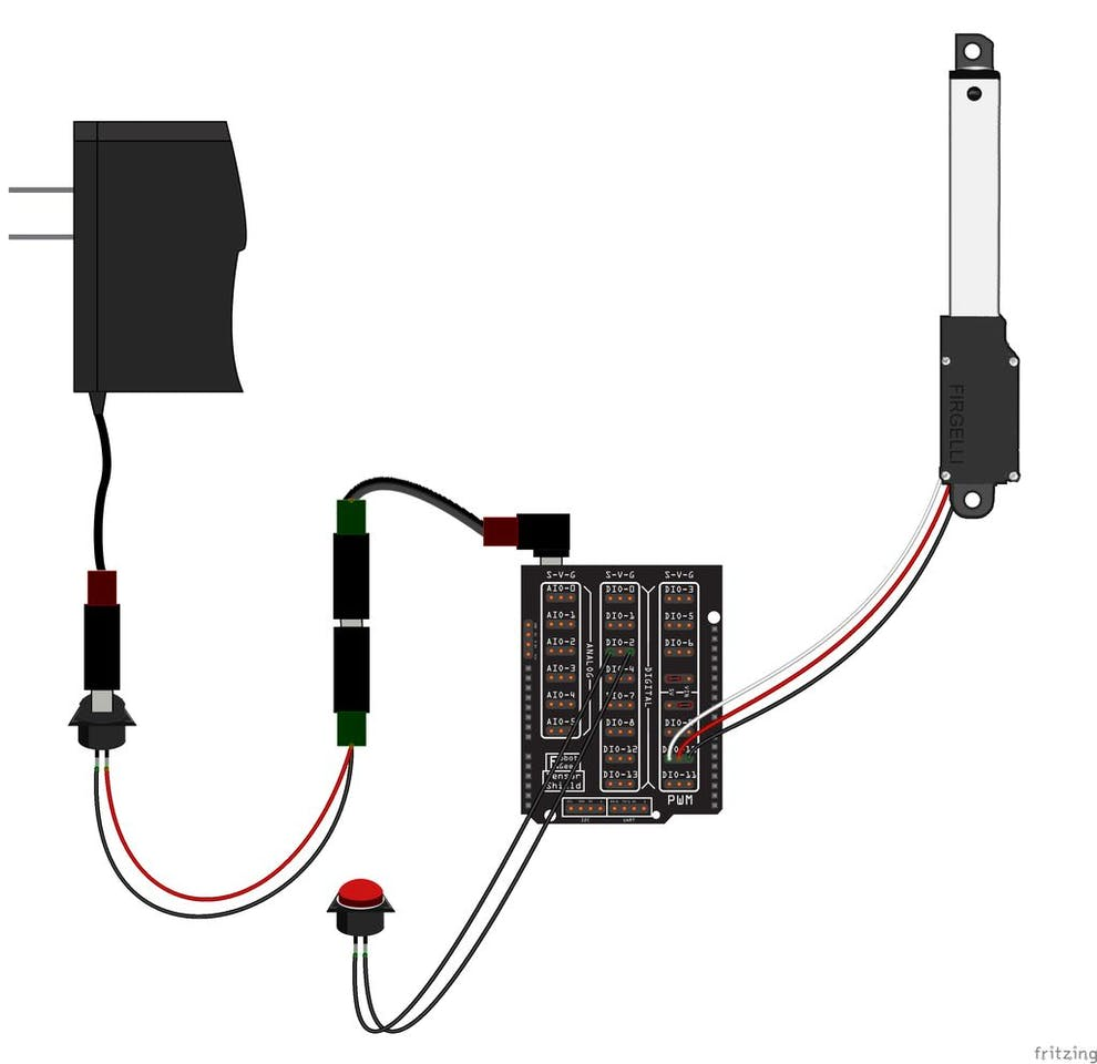Amazing Automatically Open Close A Box With A Linear Actuator Box Hackster Io Wiring Database Gramgelartorg