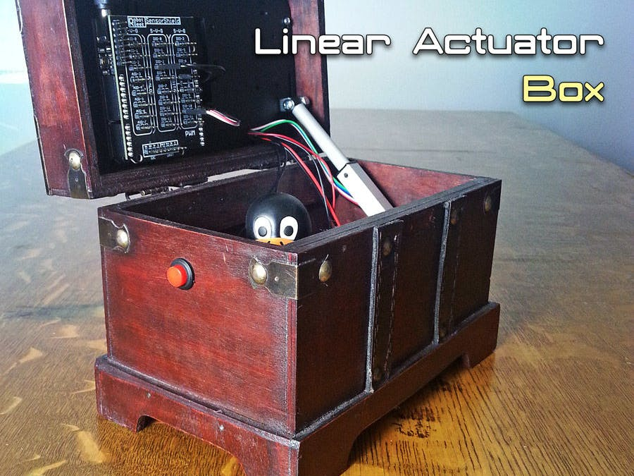 Automatically Open/Close a Box With a Linear Actuator Box