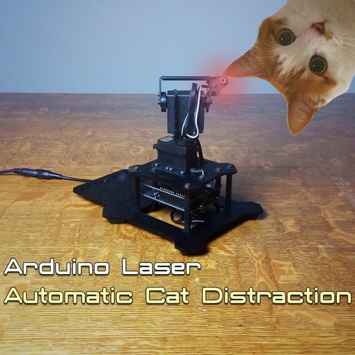 Lazerdazer arduino laser cat toy project hub