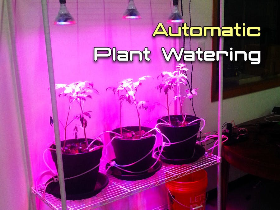Automatic Plant Watering System with Arduino - ster.io on diy indoor self watering planter, diy indoor flower pot, diy basement wall panel system, diy indoor gardening system, self watering rain gutter grow system, self watering earthbox system, diy indoor plant pots, water bottle with drip irrigation system, diy plant watering devices, diy indoor plant growing system, diy drip irrigation system for plants,