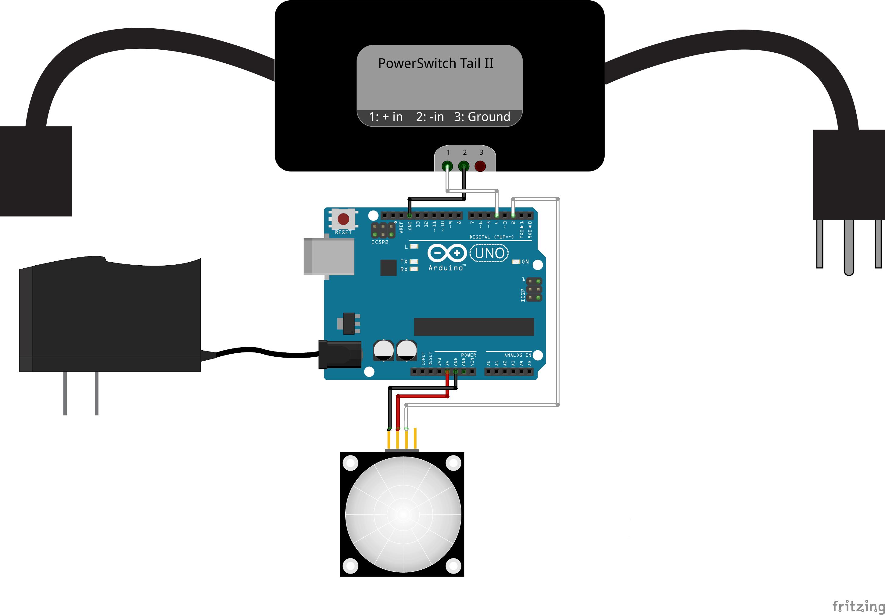 Robotgeek Pir Motion Sensor Night Light Detector Wiring Diagram No Shield