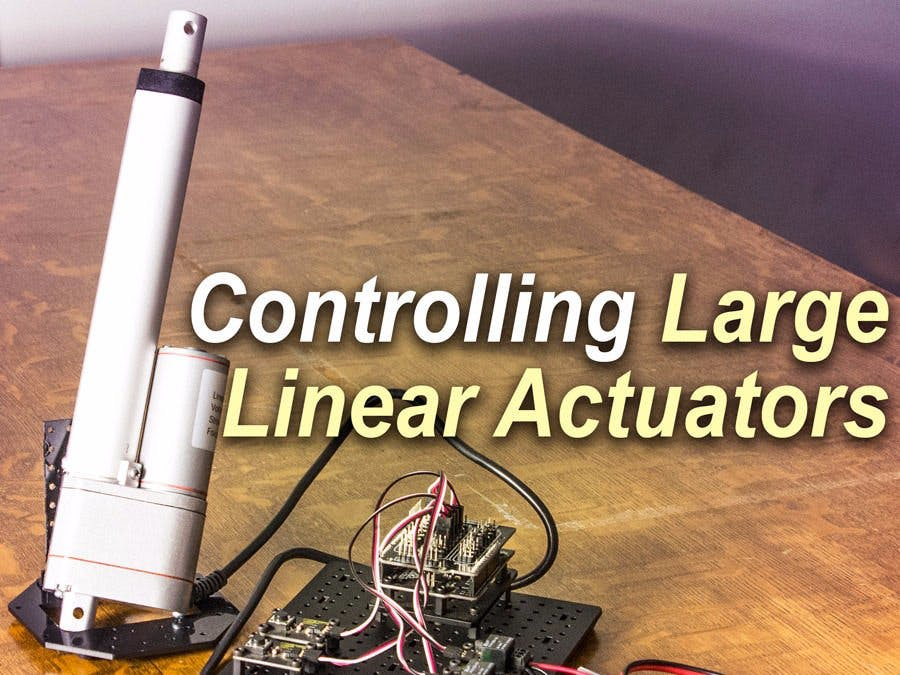 control a large linear actuator with arduino
