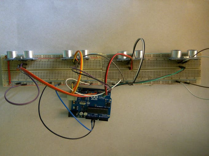 Connecting Ultrasonic sensors