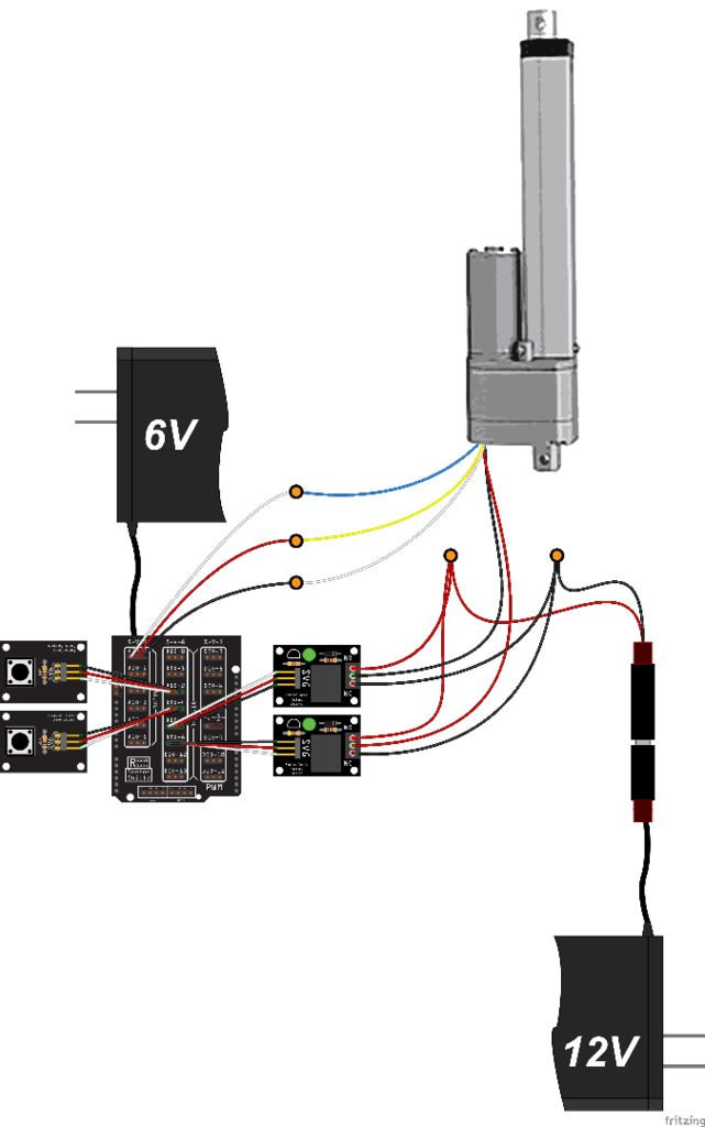 control a large linear actuator with arduino hackster io rh hackster io linear actuator control schematic linear actuator schematic diagram