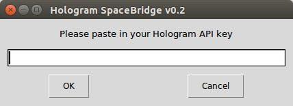 SpaceBridge client Step 1