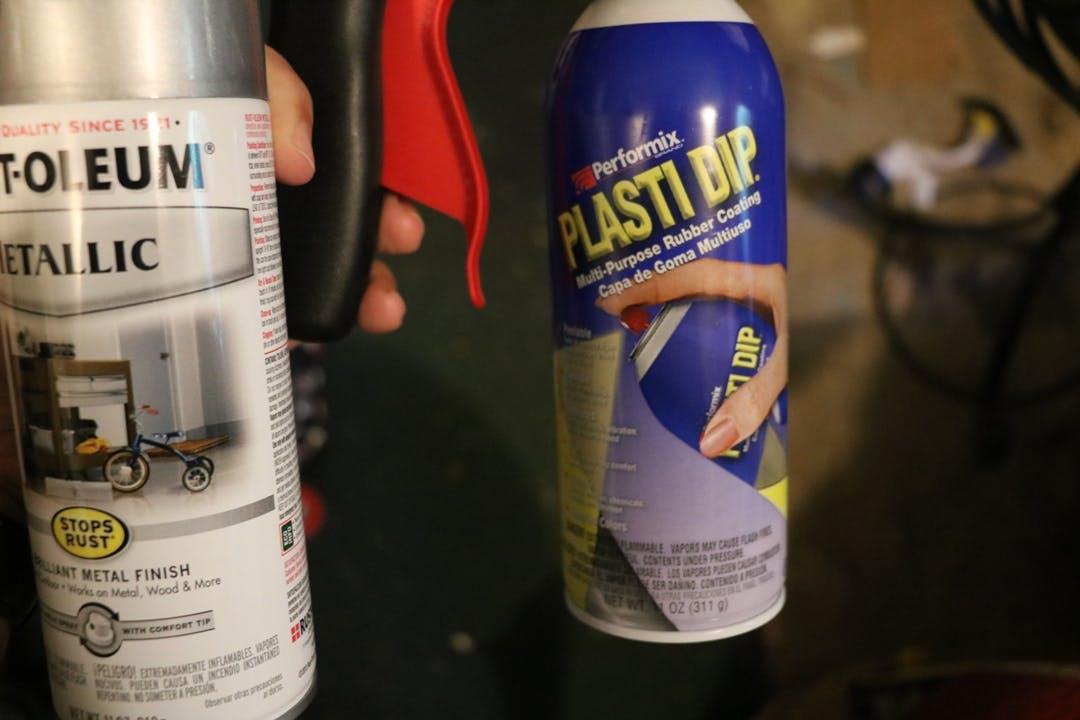 Plasti Dip spray and Rust-oleum Metallic paints