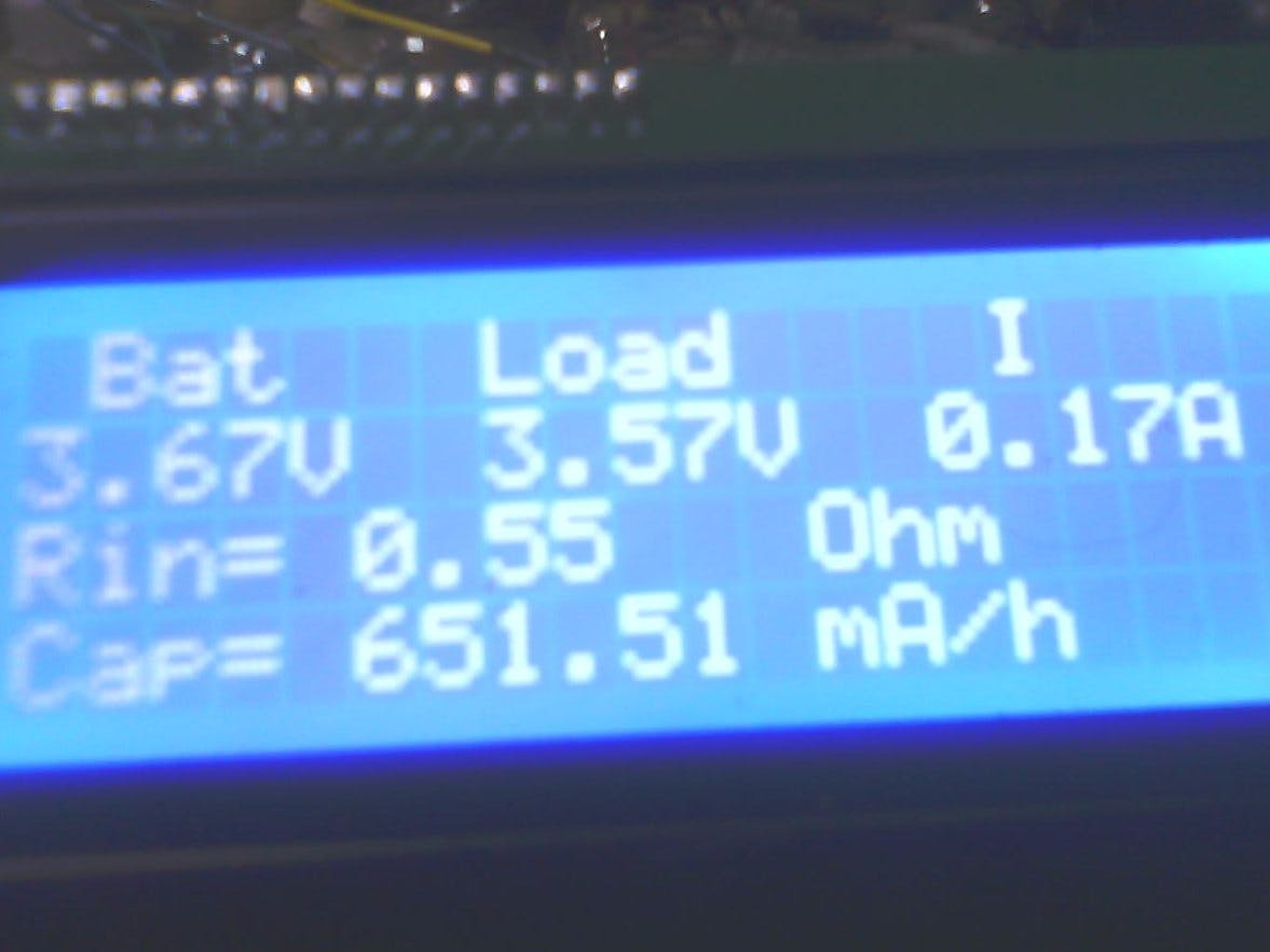 Simple Arduino Battery Capacity Tester