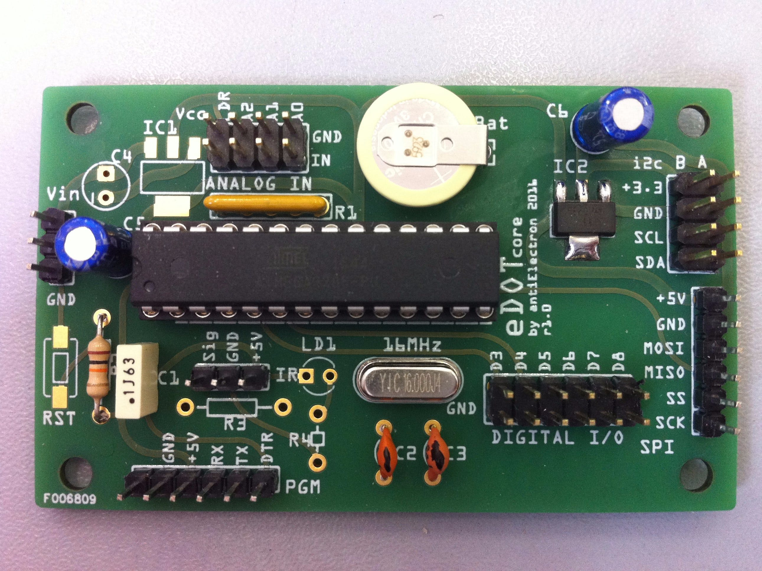 eDOTcore: A Bit More Than An Arduino Uno Board.