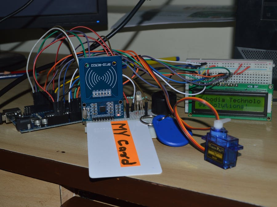 Rfid based automatic door system hackster
