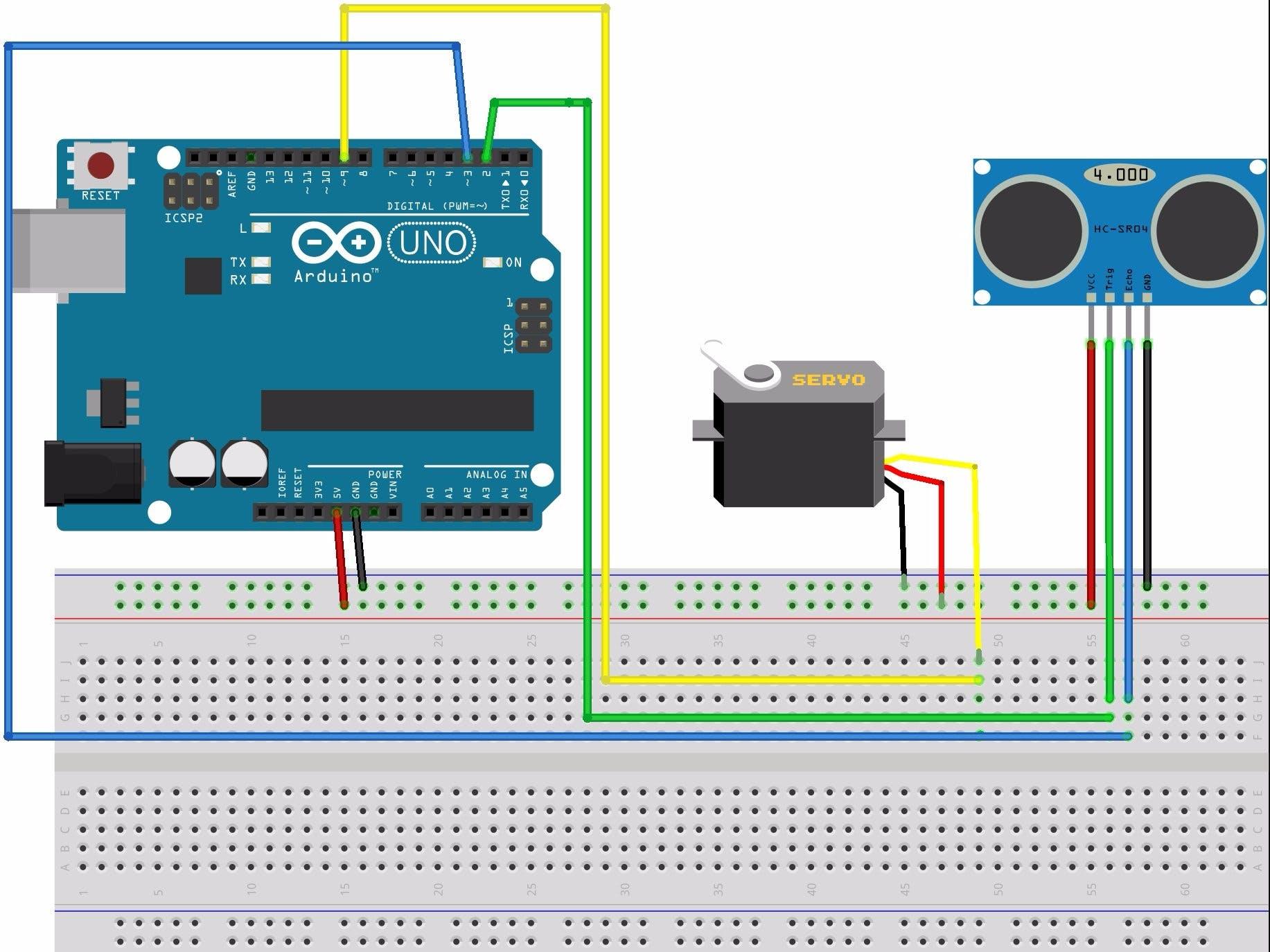 ultrasonic ranging using arduino and processing  radar
