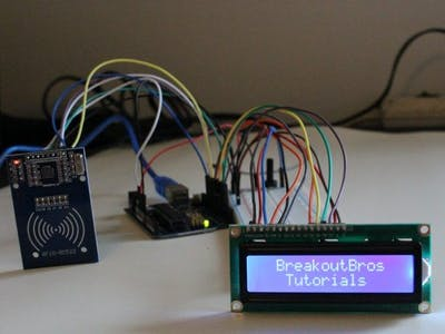 RFID Badge Scanner with LCD