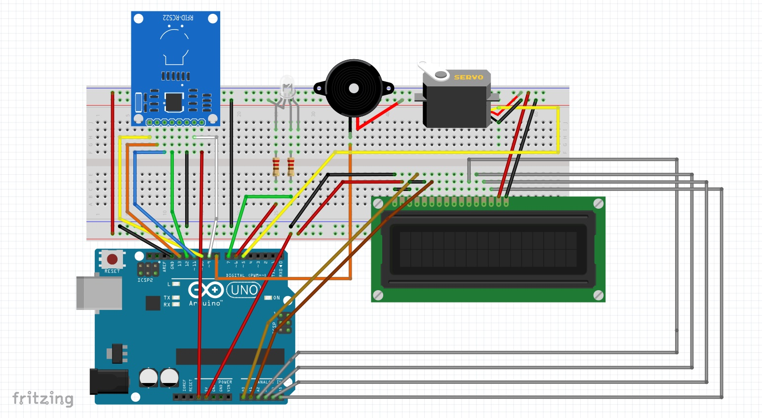 Rfid Based Automatic Door System Embedded Systems Blog Pic Microcontroller Electronic Lock Management Bread Board