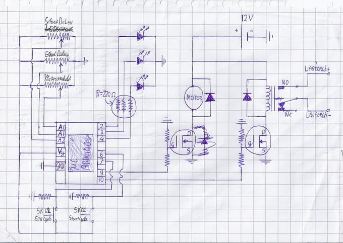 I made a schematic for myself to practice making a schematic.