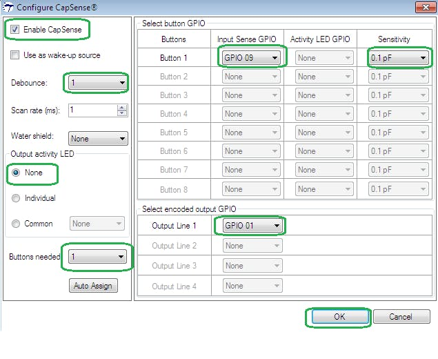 Configuring Cap Touch