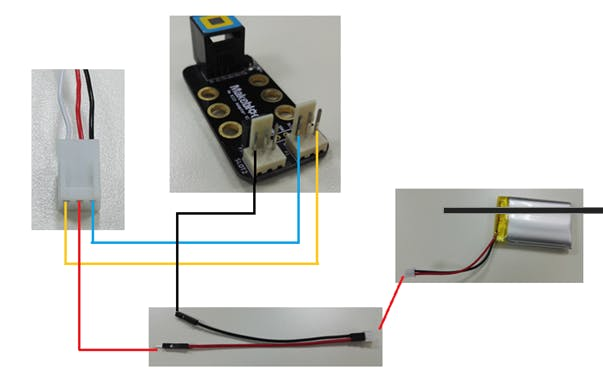Connect wires to the battery and Driver Board