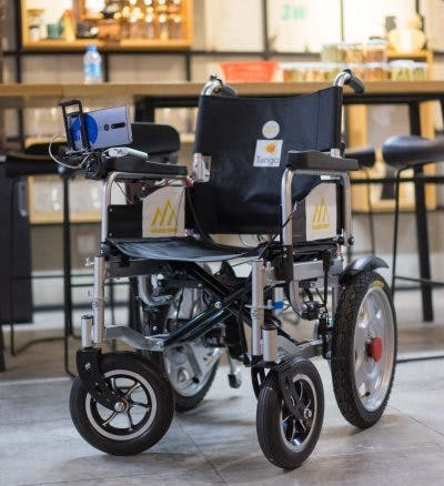 The autonomous wheelchair prototype