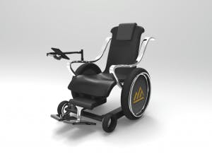 The autonomous wheelchair 3D model