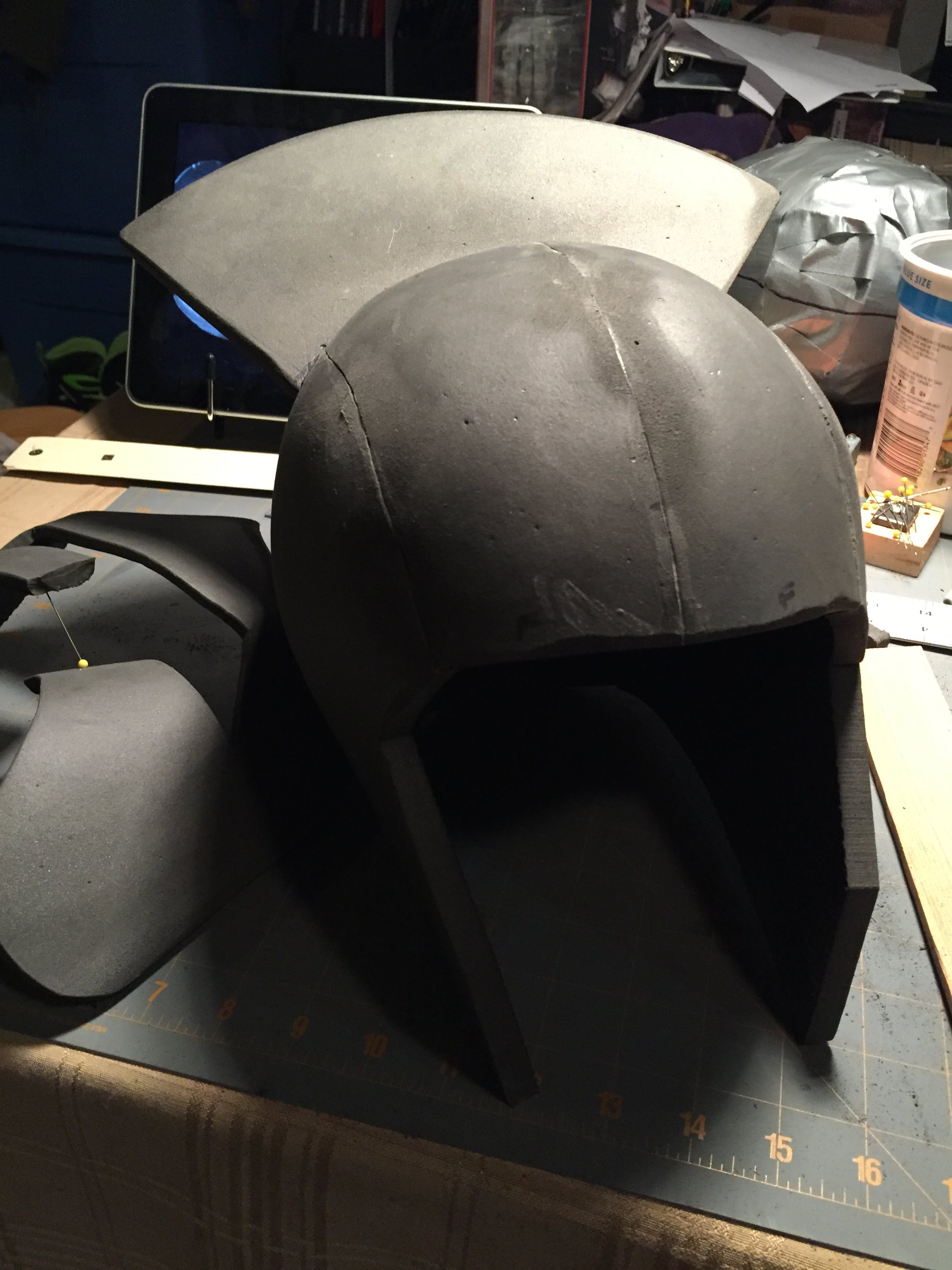 "This is just the basic Evil Ted helmet with the Uruk Hai ""wing"" added."