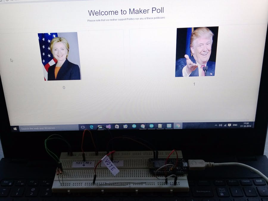 MakerPoll - Internet Connected Voting System for Makers