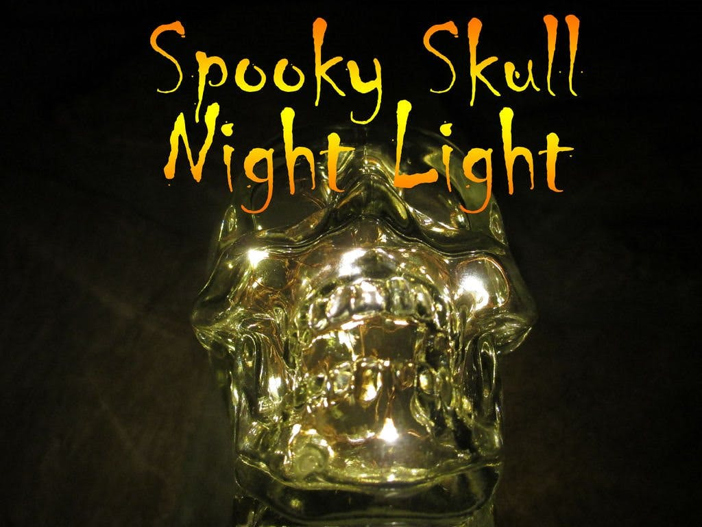 Spooky LED Skull Night Light