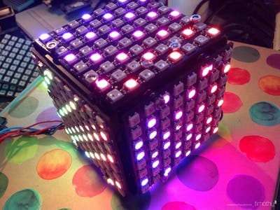 NeoMatrix Cube with Makerbeam Construction