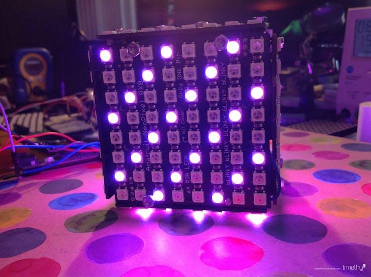 NeoMatrix Cube with Makerbeam Construction - Hackster io