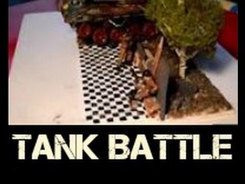 Futuristic Tank battle Diorama Build