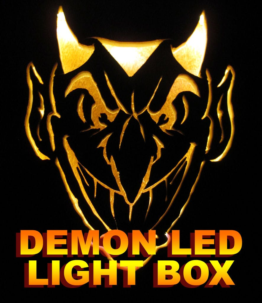 Glowing Demon LED Light Box