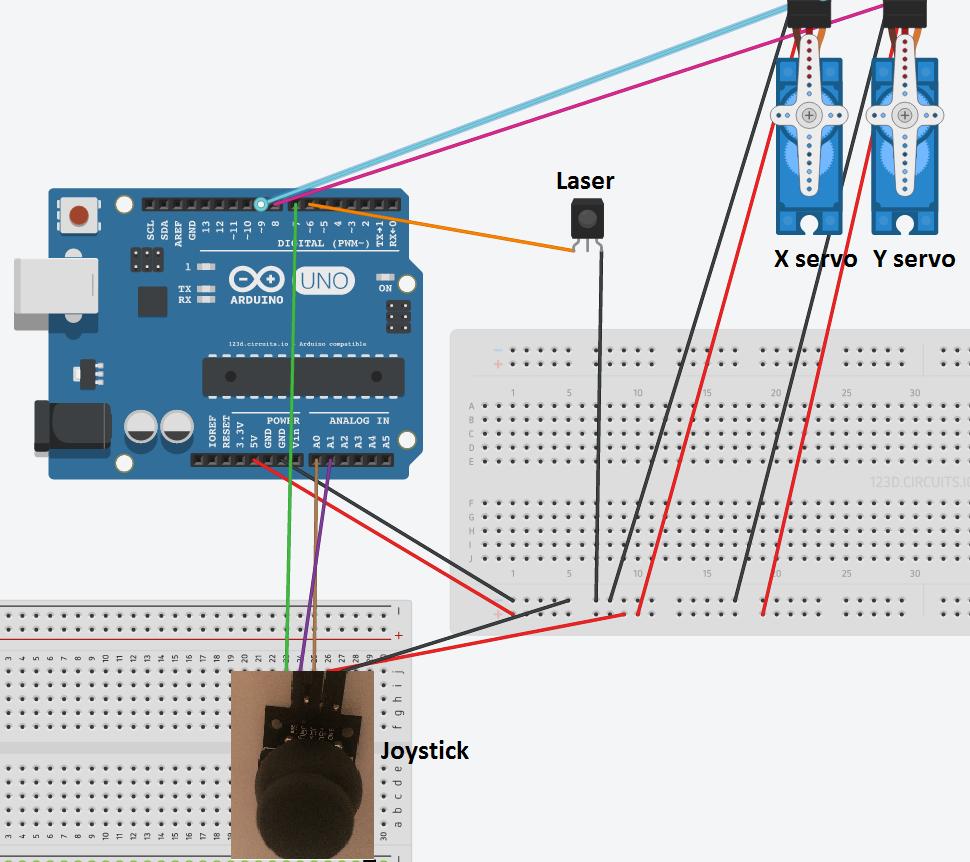 Tutorial Arduino Mini Laser Turret Control Rc Servo Electronics Projects Wefpfbtyhzdj558yt6js
