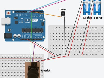 Tutorial Arduino Mini Laser Turret Control