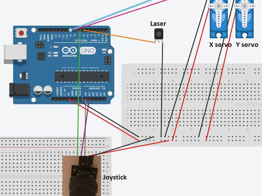 Tutorial Arduino Mini Laser Turret Control