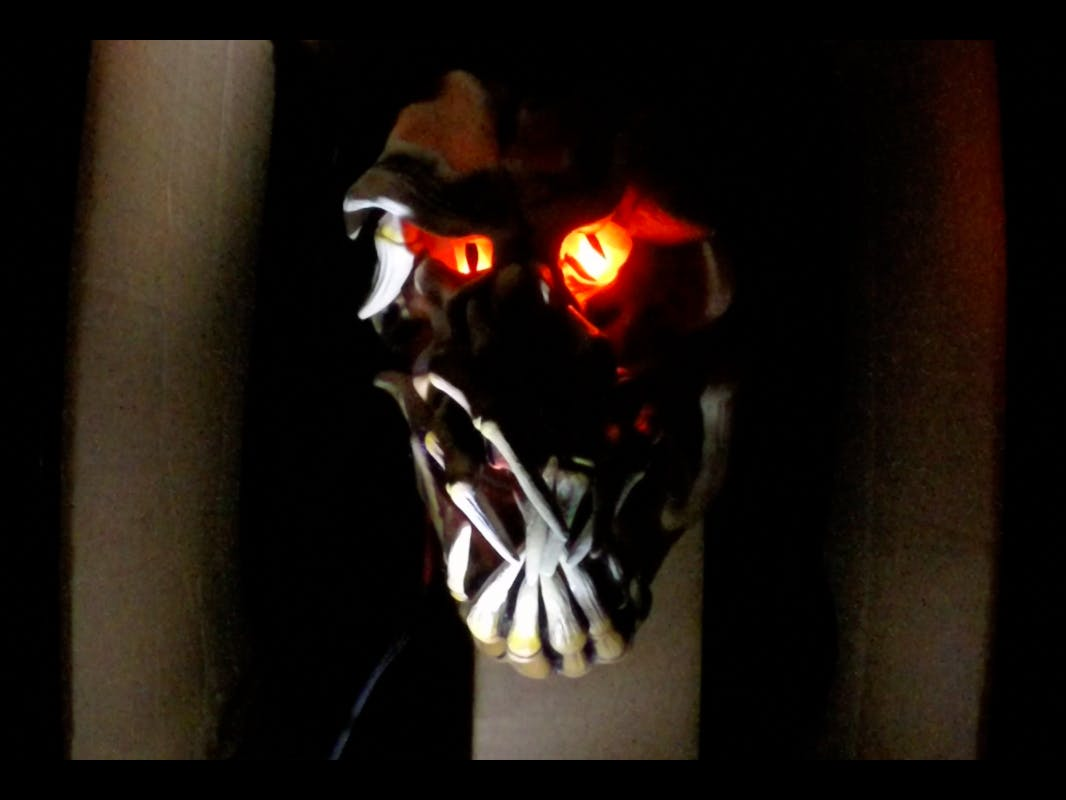 PIR Sensor Activated Halloween Scare Prank