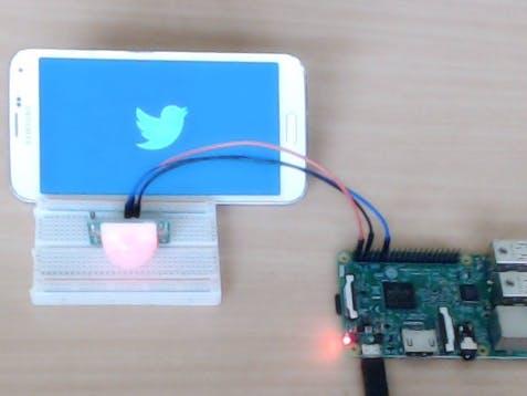 Send Tweet using Raspberry Pi and PIR Motion Detector