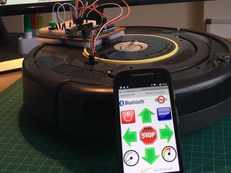 Controlling A Roomba Robot With Arduino And Android Device