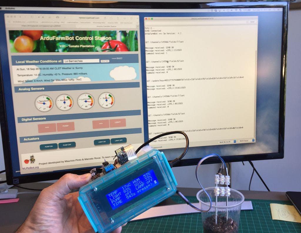 "ArduFarmBot - Part 2: ""Remote Station"" an IoT Implementation"