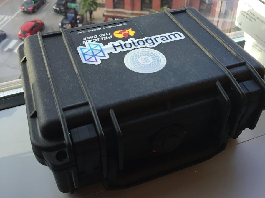 Hologram Dash GPS and Temperature Sensor Box