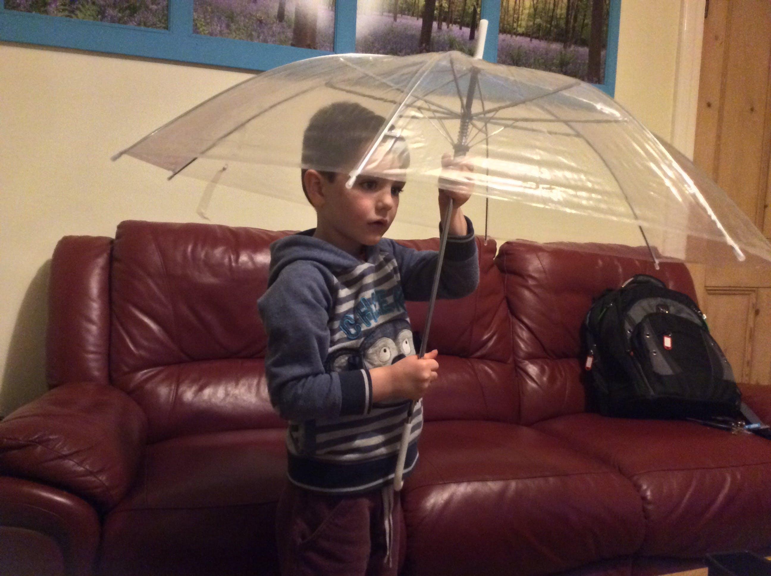 I used a clear umbrella
