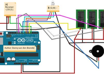 Ir Remote Home Control Using The Ky 022 Arduino Project Hub