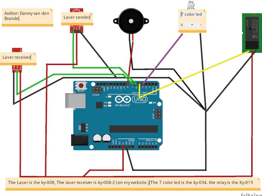 Cheap DIY LASER ALARM - Multi Functional! - Hackster.io