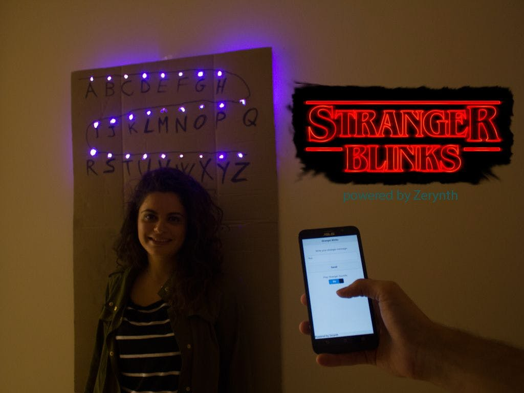 Stranger Blinks: Send Messages from the Upside-Down