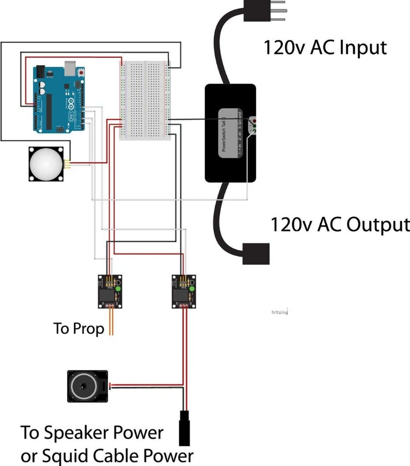Halloween Decoration With Arduino And Floor Mat Switch Powerswitch Tail Relay