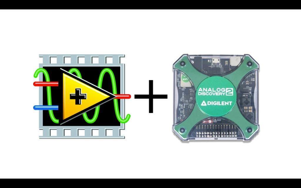 Analog Discovery 2 USB Oscilloscope + LabVIEW